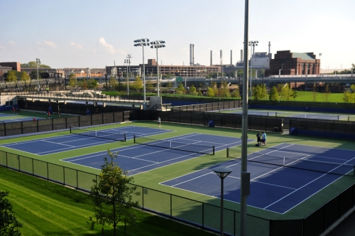 The new tennis courts at Penn Park are one of the many things that has Bilsky excited about the future.