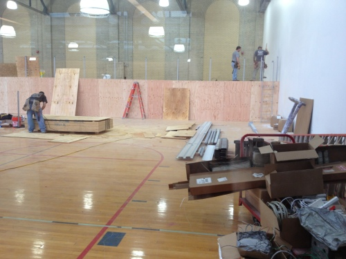 Some parts of the Hutch Gym renovations - like the gymnastics room - are still under construction.